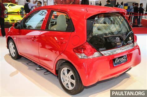 honda brio facelift unveiled at 2016 indonesia international motor show iims