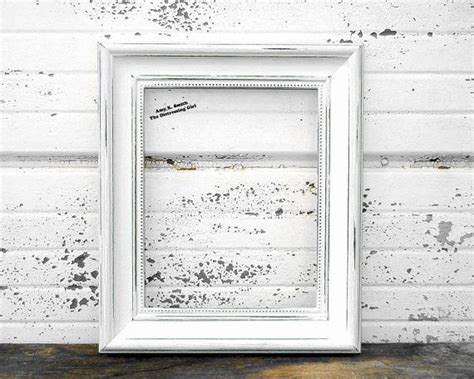 white  picture frame rustic  thick