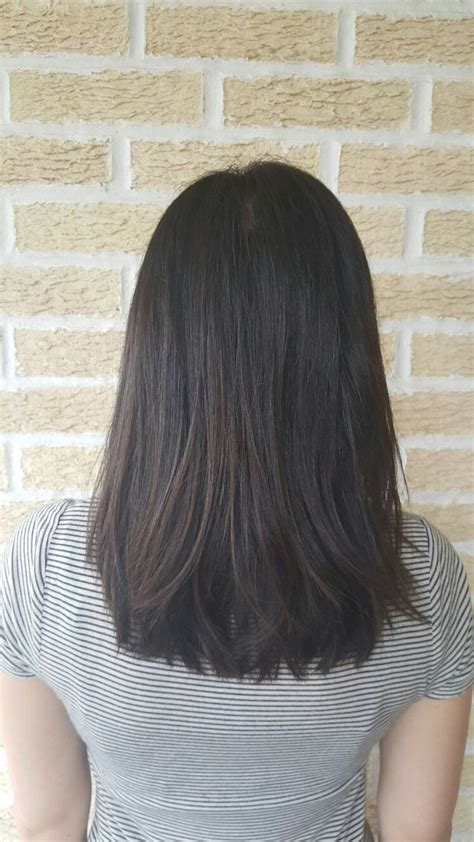 medium length haircut hairstyle cut style lob