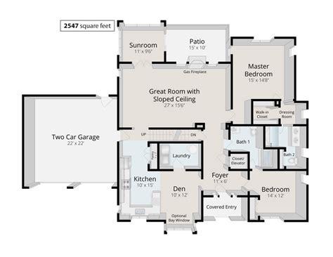 2 Bed Bath Home Floor Plans
