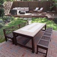 fine patio side table plans HOME DZINE Home DIY | Build an outdoor table and benches