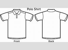Polo Shirt Template clip art Free vector in Open office