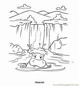 Waterfall Coloring Pages Drawing Nature Waterfalls Printable Colouring Template Stream Tattoo Hippo Selale Sketch Victoria Simple Draw Boyama Drawings Sketches sketch template
