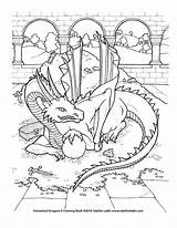 Coloring Dragon Deviantart Treasure Pages Adult Dragons Colouring Sheets Mythical Books Drawings Adults Fairy Printable Pen Watercolor Detailed Sample Cool sketch template