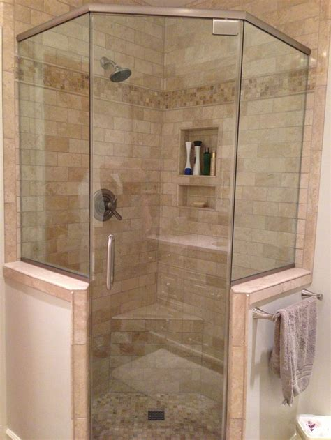 Bathroom Showers by Master Bath Glass Shower With Knee Wall Mike A Listen