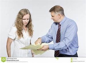 Boss Is Upset With His Employee Stock Photo - Image: 33199930