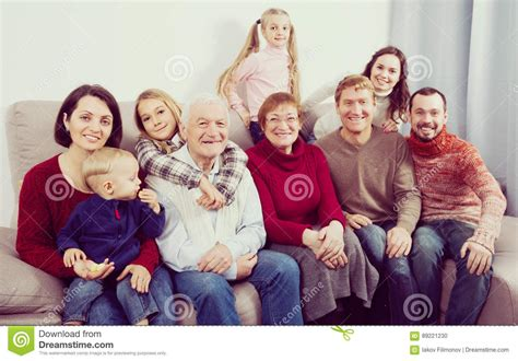 Children With Grandparents At Christmas Royalty-free Stock