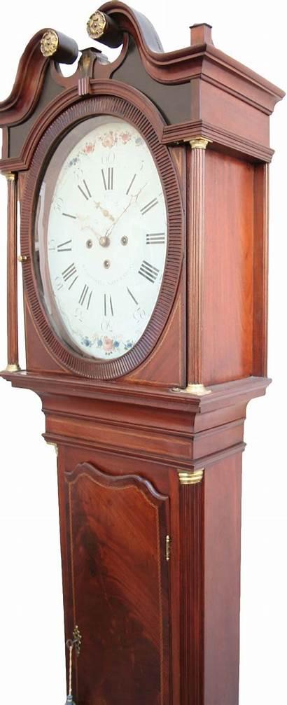 Clock Antique Grandfather English Bells Nine