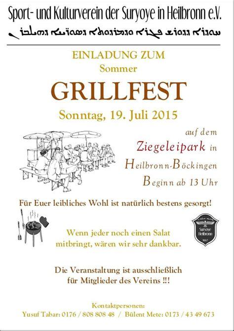 einladung faszinierend einladung grillparty vorlage