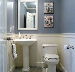 Dunstable blue and white half bath half baths bath and for Half bathroom design ideas