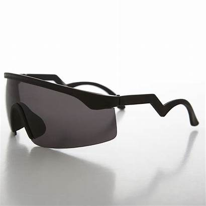 Sunglasses 1990s Shield Spiffy Sunglass Wrap Sunglassmuseum