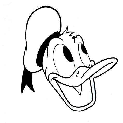 drawn donald duck black  white
