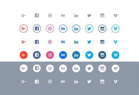 20 Beautiful Free Flat Social Media Icons Sets 2019