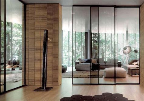 porte coulissante en verre pour cuisine cloison coulissante en verre ou bois pour la maison moderne