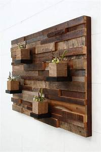 wood wall art Recycled Wood Pallet Planter Ideas | Pallet Ideas ...