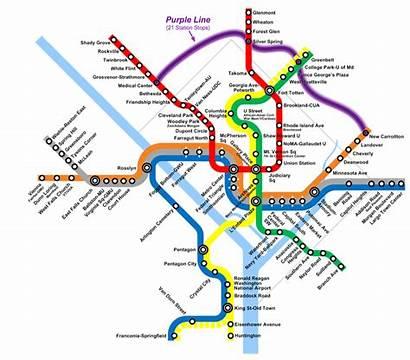 Line Metro Dc Silver Washington Purple Rail
