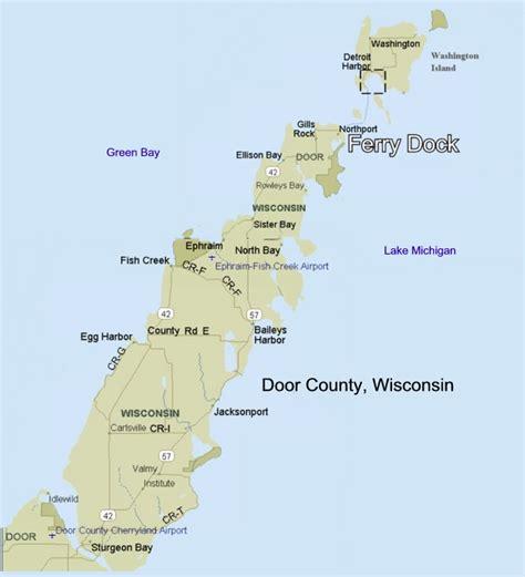 map of door county wi door maps door county wisconsin pen drawing