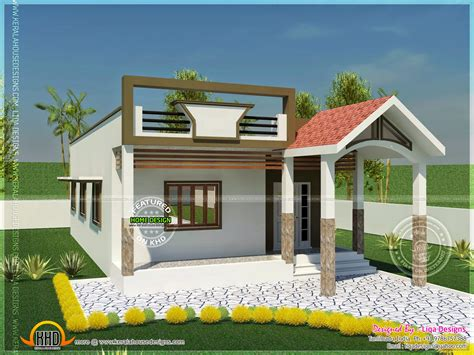single house designs 740 square single storied house kerala home design