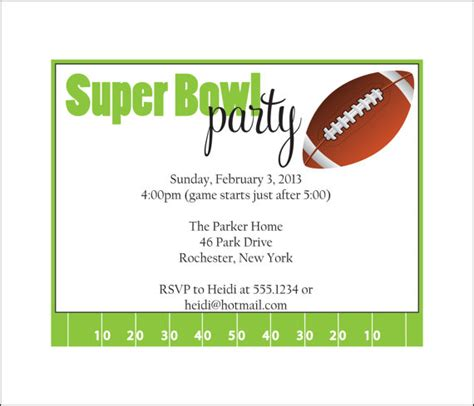 bowl invitations templates bowl invitations template best template collection