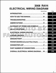 2008 Toyota Rav4 Wiring Diagram Manual Original