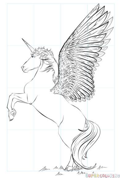 draw  realistic unicorn step  step drawing tutorials