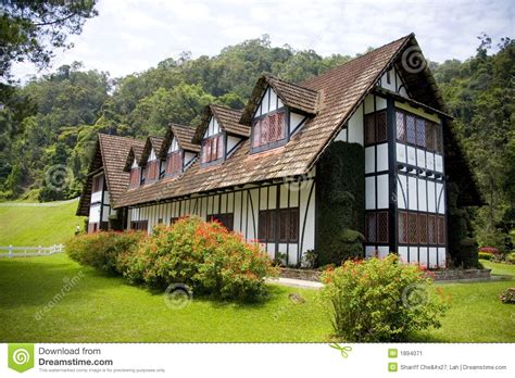 colonial tudor style mansion stock image image