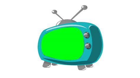 Cartoon Tv In Green Screen