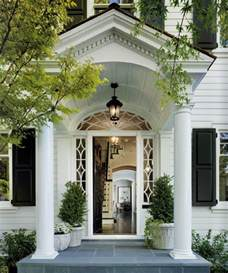 Beautiful Front Portico Plans by A Classic House La Dolce Vita