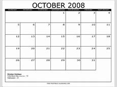 2008 Free Printable Calendars Free Printable Calendars