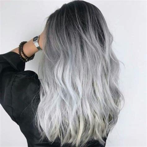 schwarze haare grau färben haare grau f 228 rben tipps mittel und mehr zum trend selbst