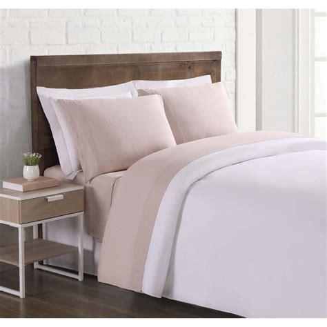 loom nature flax linen blush queen sheet sheet ss2469bsqn 4700 the home depot