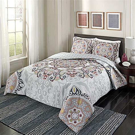 marble hill regal rosette reversible comforter set bed