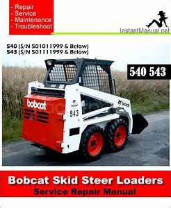 Pin On Bobcat Skid Steer Loader Service Manual Pdf
