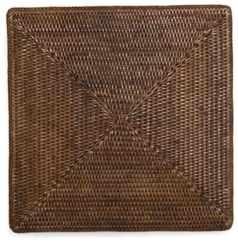 "Square Rattan Placemat 15"" (Set/4)   Tropical   Placemats"