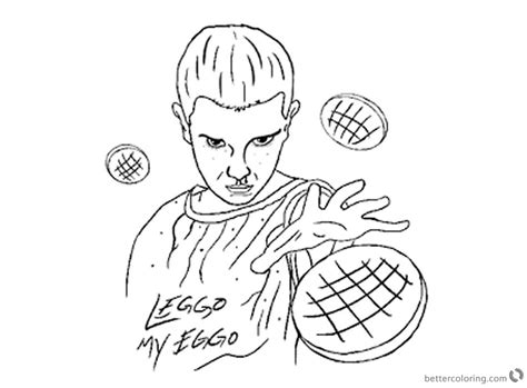 stranger  coloring pages eleven work  nate farro