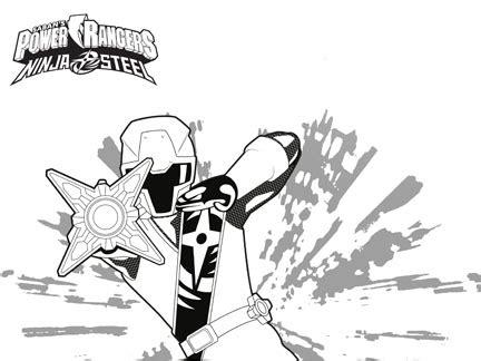 letoile des power rangers ninja steel coloriages