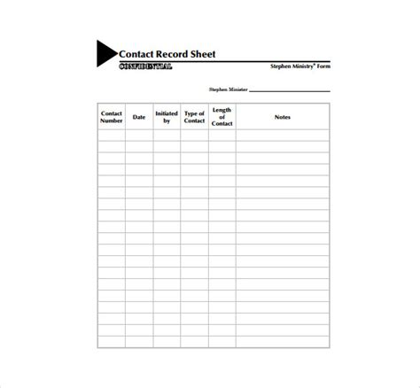 Contacts Spreadsheet Template by Contact Sheet Template 16 Free Excel Documents