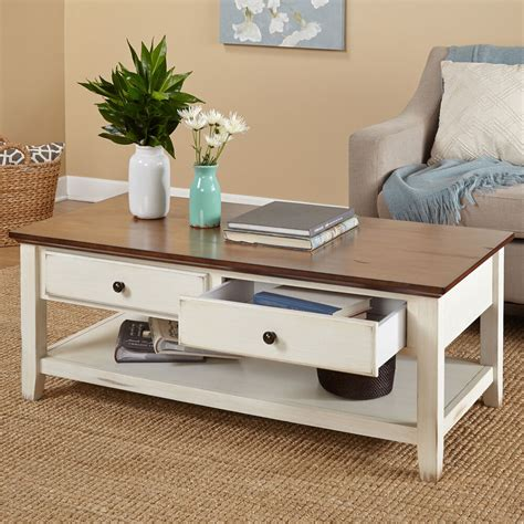 modern coffee table contemporary storage drawers accent