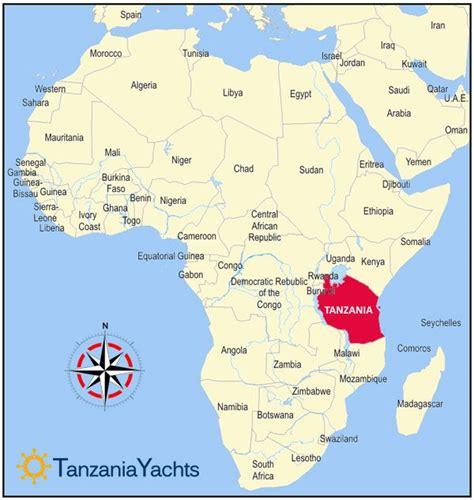 map  zanzibar tanzania africa vacations  tanzania