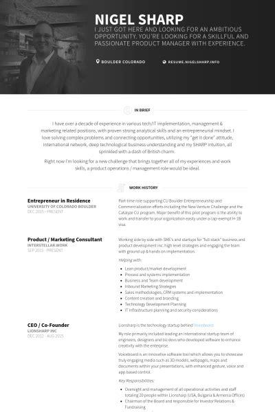 co founder resume sle resume ideas