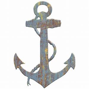 anchor wood look cut out wall decal rustic nautical beach With anchor wall decor