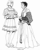 Renaissance Coloring Renacimiento Mode Colorear Dibujos Kleurplaat Kleurplaten Costume Uit Kleding Engeland 1520 Kleidung Coloriage Fun Coloriages Colorir Costumes Imagen sketch template