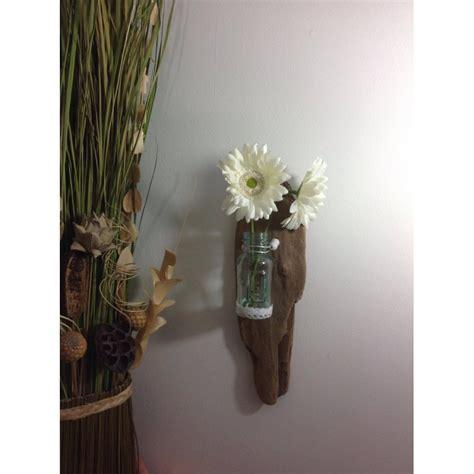 applique murale en bois flott 233 vase en verre tethysart