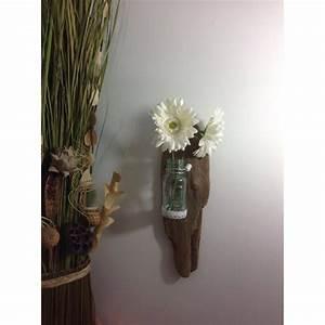 Applique Murale Bois Flotté : applique murale en bois flott vase en verre ~ Teatrodelosmanantiales.com Idées de Décoration