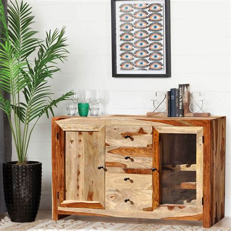 Wine Sideboard by Dallas Ranch Solid Wood 3 Drawer Wine Sideboard