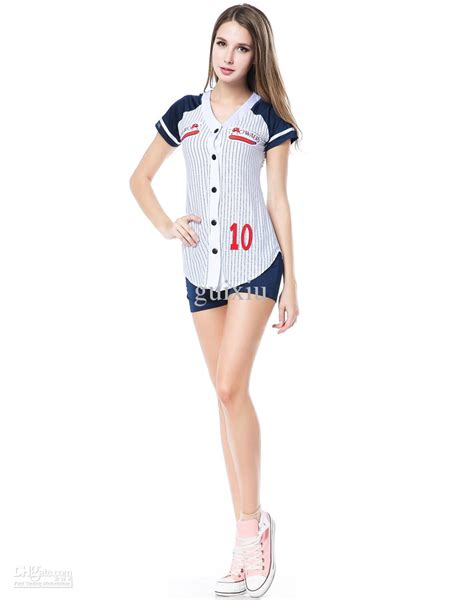 Cosplay Sexy Sports Costumes For Women Baseball Player Costume Set Grand Slam Dress Short Sleeve ...