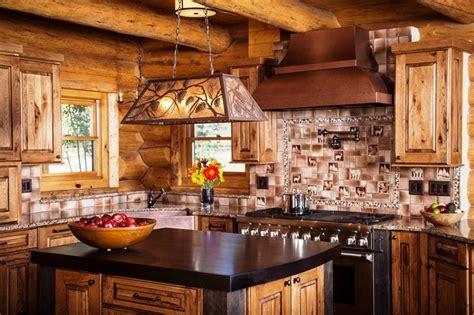 rustic kitchen   log home anteks