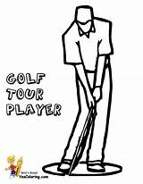 Golf Coloring Pages Player Tour Sports Yescoloring Clubs Course Golfing Gallant Golfers Sport Boys sketch template