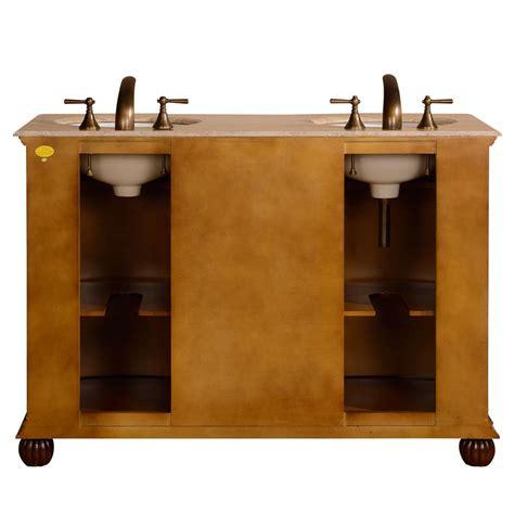 52 quot traditional double sink bathroom vanity travertine