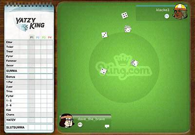 yatzy king yahtzee multiplayer  games  play